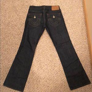 TRUE RELIGION men's dark wash jeans. NEVER WORN